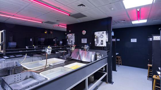 Darkrooms for photography students