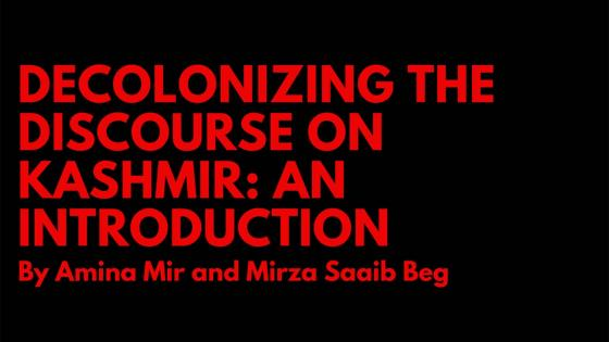 Decolonizing the discourse on Kashmir poster