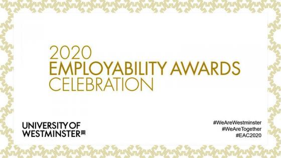 Employability Awards Online Celebration 2020 flyer
