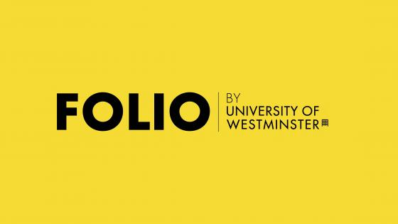 Folio logo text reads 'Folio by University of Westminster'