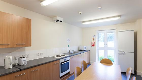 Kitchen space in Harrow hall
