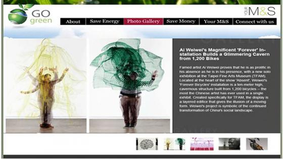 Marks and Spencer website - student-work