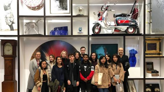 PR and Advertising students' tour of top agency