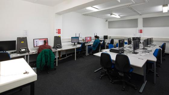 Computer suite for Media, Arts and Design students