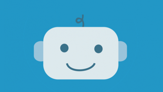 A smiling robot face