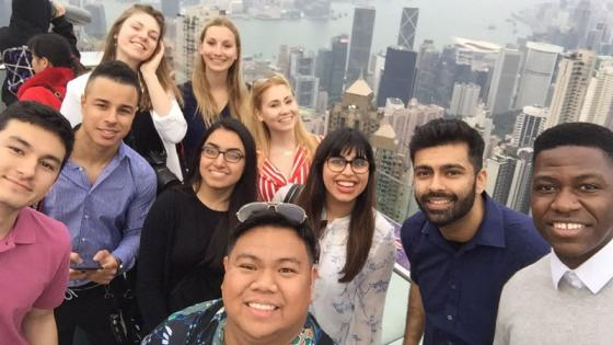 Student group photo in Hong Kong
