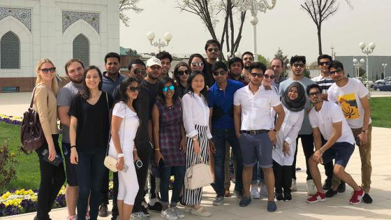IBM students, field trip to Tashkent 2018