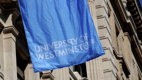 Blue University of Westminster flag