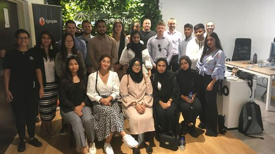 Students on a Westminster Working Cultures trip to Dubai