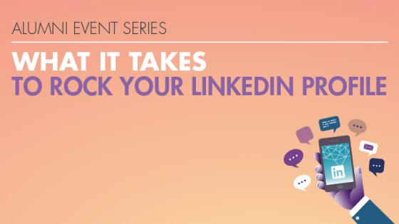 What it Takes to Rock your LinkedIn Profile event graphic
