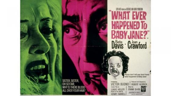 This is Whatever happened to Baby Jane? poster, you can see two  ladies  screaming