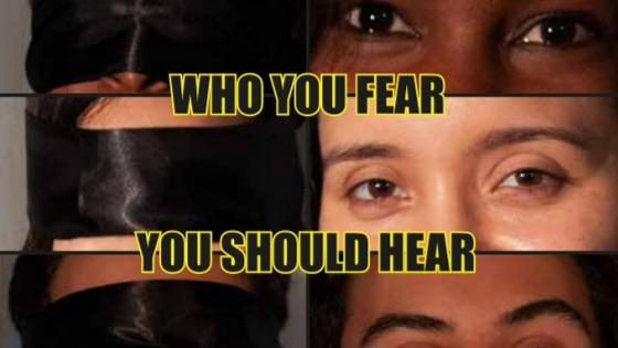 Who you fear you should hear poster