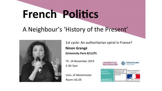 "Seminar series ""French Politics: A Neighbour's 'History of the Present'"" invites Ninon Grangé"