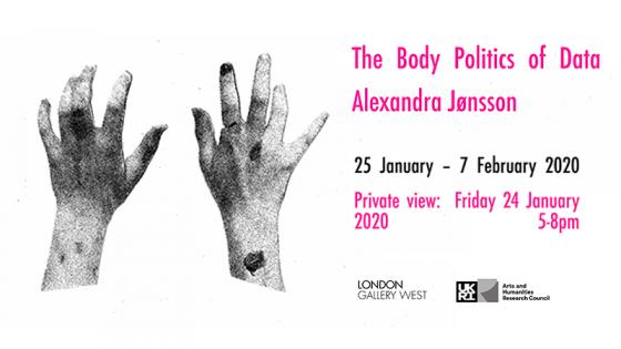 Body Politics of Data exhibition at London Gallery West