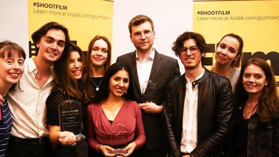 Third year Film BA students at the 2019 Kodak Commercial Awards