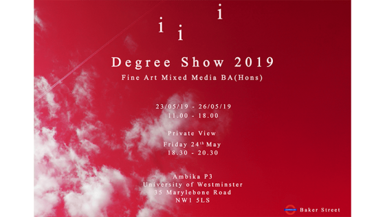 Fine Art degree show poster 2019