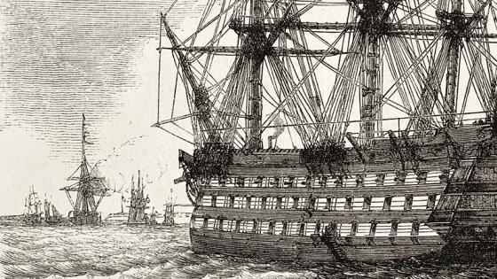 Flagship at the Battle of Trafalgar