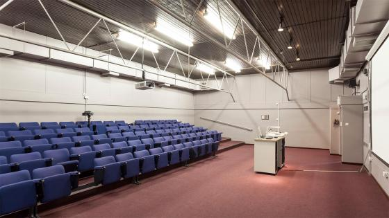 Interior view of Kodak lecture theatre in Harrow campus