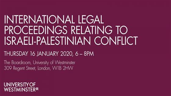 International Legal Proceedings Relating to Israeli Palestinian Conflict event information
