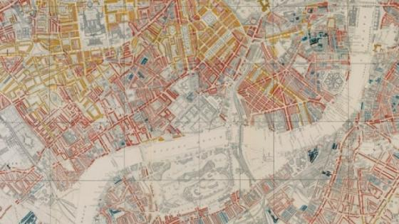 Archaic street map of the city of London