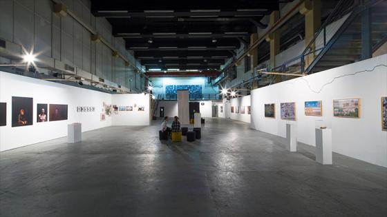 Work on display at a degree show