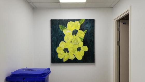 picture-of-flowers-on-wall-end-of-corridor