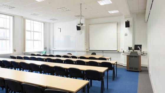 A classroom for hire at the University of Westminster