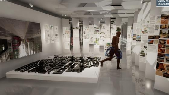 Virtual renders of Architecture exhibits at OPEN 2020 exhibition