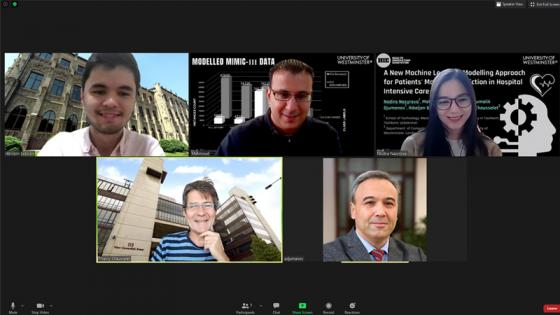 Screenshot of researchers on Zoom call