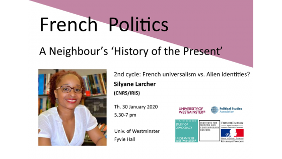 A Neighbour's 'History of the Present' poster with Silyane Larcher