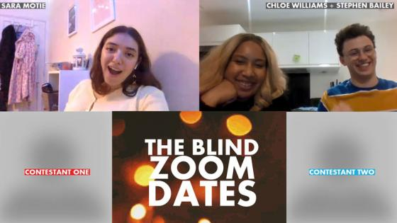 A screenshot of the Smoke Radio Zoom Blind Dates show
