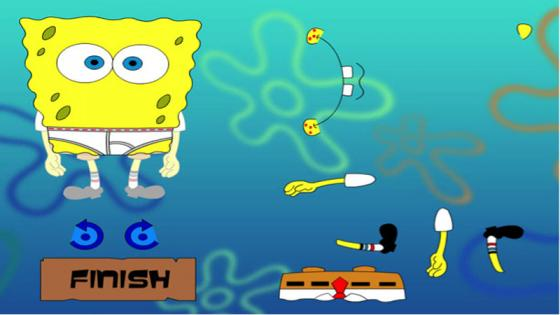 Spongebob Squarepants game – student work