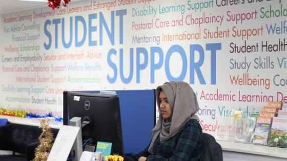 Student support service desk