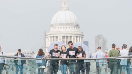 Students at St Paul's Cathedral