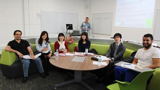 International students in pre-sessional class