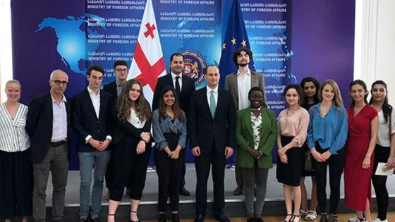 students on trip to georgia
