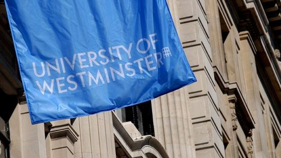 University of Westminster blue flag