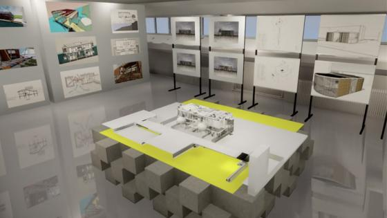 Digital render of Architecture students projects for OPEN2020 exhibition