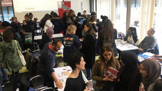 People attending the Volunteering and Work Experience Fair