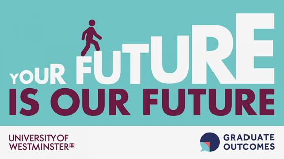"""Your Future is Our Future"" Graduate Outcomes logo"
